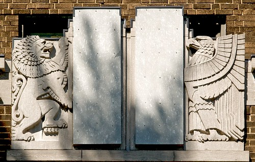 Lion and Eagle, Adaath Israel Synagogue