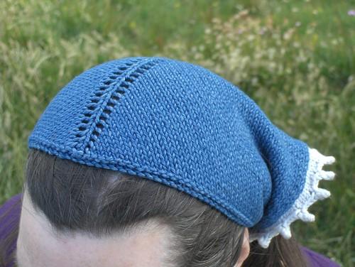 Denim headscarf on