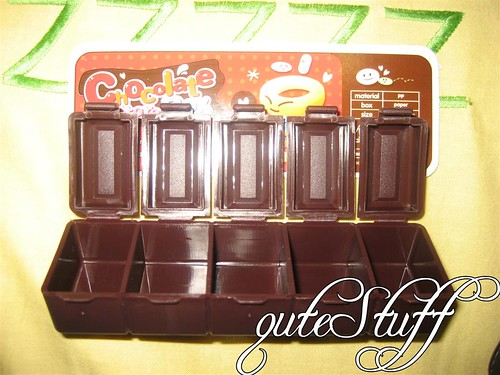 Chocolate shape compartment