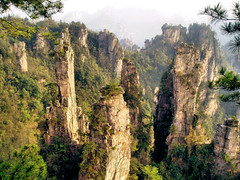 China Travel - Zhangjiajie, Hunan  (Lao Wu Zei) Tags: china travel mountains nature travels photos unesco favourite   hunan worldheritage  zhangjiajie   250views