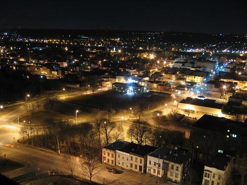 Troy, NY at night