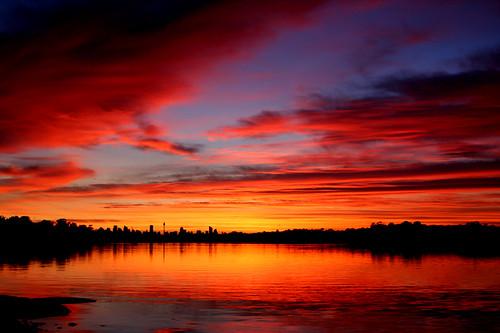 Sunrise of river