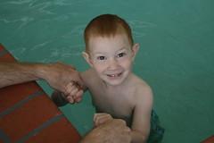 Kade swimming