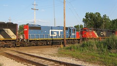 Southbound Canadian National Railroad transfer train. Hawthorne Junction. Chicago / Cicero Illinois. June 2008.