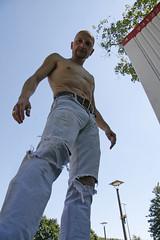 Jeanshunk_3127 (picman1108) Tags: man male belt chest hunk crotch jeans levis bulge cutoff