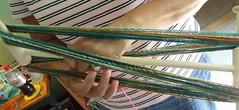Patti's first yarn on niddy noddy