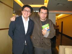 Alberto Fuguet y Paco Bardales