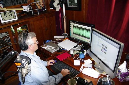 El equipo de grabación de Leo Laporte