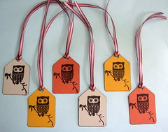 Retro Owl gift tags (by glamourfae)