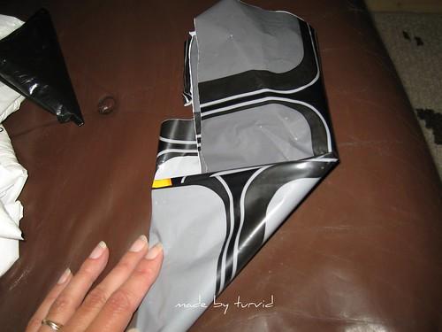 Folding plastic bags