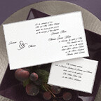 Deckle Edge Invitations, Silver edges wedding invitation inspiration, wedding invitation, flowers, photos
