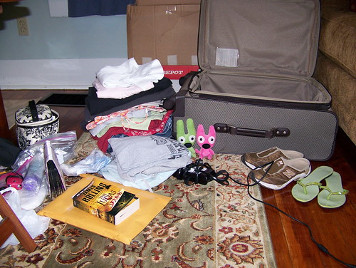 Need to get all this in the suitcase.