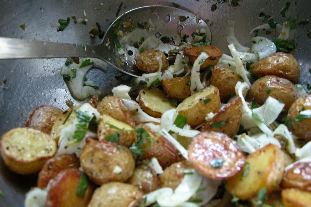 an elegant potato salad