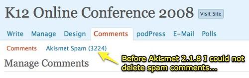 Before Akismet 2.1.8