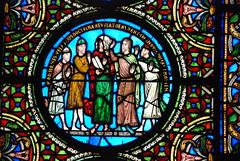 Paris: katedra st. Denis V - XIII w.; witraże w prezbiterium - opata Sugera (1140-1144)