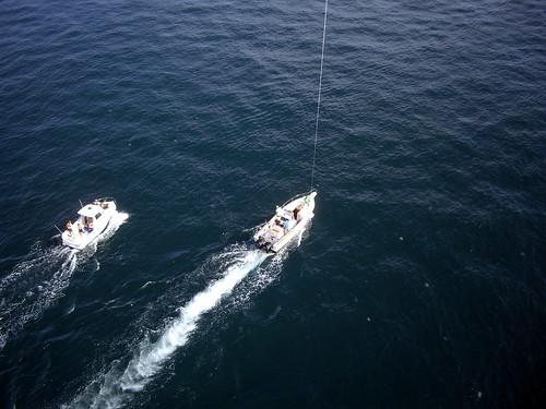 Ondine, Ed & jellyfish, KAP, 2008 Sark to Jersey rowing race