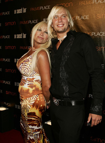 Linda Hogan and guest arrives at the grand opening of Palms Place Hotel & Spa, Palms Las Vegas on May 31, 2008 in Las Vegas,Nevada.