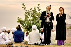 Sunset prayers (damonlynch) Tags: israel peace palestine westbank prayer religion jew jewish conflict rabbi sikh amos settlement tekoa fruman froman top20jewish
