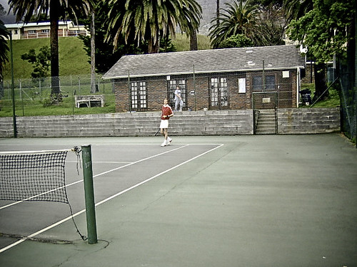 A grey day for tennis.