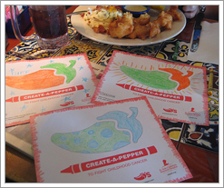 Quicken Loans DIFF blog thinks coloring at Chili's is cool! by whatsthediffblog, on Flickr