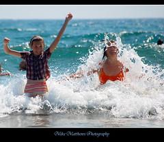Exhilaration! (mike matthews) Tags: travel sea holiday beach turkey fun asia europe laughter excitement turkey2 familygetty2010