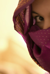 66/365 Peekaboo (AlicePalice) Tags: portrait eye scarf gold dof purple peekaboo headscarf explore crop sari day66 fgr 365days alicepalice theportaits peekgaze