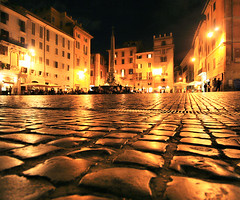 Piazza Della Rotonda (` Toshio ') Tags: street italy rome building history colors night walking italian europe nightshot roman perspective pantheon tourists piazza sanpietrini europeanunion toshio piazzadellarotonda aplusphoto goldstaraward