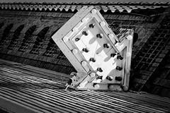 Uncertain Guidance (engjoneer) Tags: abandoned mamiya sign architecture texas trix arrow fortworth 1000s hc110b m645