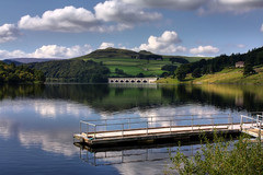 Ladybower Reservoir (**Anik Messier**) Tags: uk england reflection landscape fishing fisherman britain derbyshire peakdistrict reservoir reflet angleterre pcheur soe hdr ladybowerreservoir pche rservoir bej upperderwentvalley shieldofexcellence brillianteyejewel welcomeuk