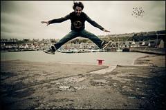 I jump (manlio_k) Tags: canon scotland jumping sigma vignetting 1020 manlio findochty castagna 400d manliocastagna manliok