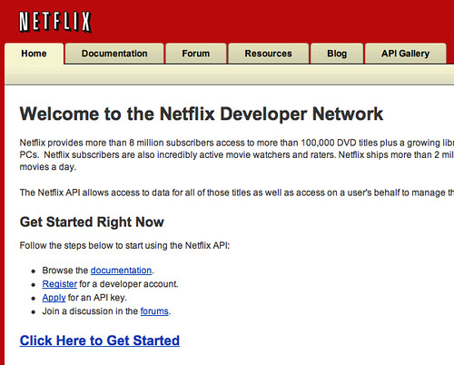 Netflix Developer Network