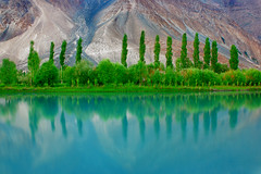 Reflections! (rohtas) Tags: trees pakistan sky mountain mountains green nature water beautiful beauty clouds reflections river landscape colours fresh clean environment punjab pak jhelum pakistanlandscape clandaer
