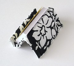 IMG_4406 (LMcreation) Tags: desktop white black stand office case organizer cotton accessories etsy businesscard damask recipeholder cardholder moocard lmcreation