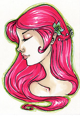 pink hair for lilli (miss_skittlekitty) Tags: pink green girl hair profile