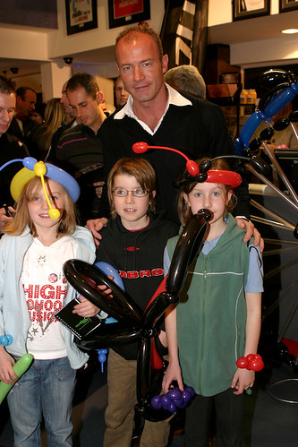 Ellie, Josh and Hanna with Alan Shearer