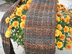 Handknit scarf BFL