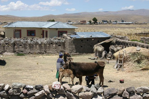 Primitive settlement on my way to Puno...