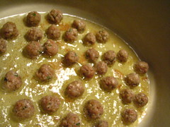 Italian Wedding Soup (Escarole Soup): Meatballs