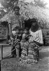 Robert Billy and his family (State Library and Archives of Florida) Tags: family children florida seminoles nativeamerican everglades miccosukee womensday chickee statelibraryandarchivesofflorida