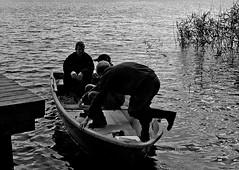 And there they go (gornabanja) Tags: blackandwhite lake water germany boat blackwhite nationalpark nikon d70 row mritz mritznationalpark mecklemburg herzw