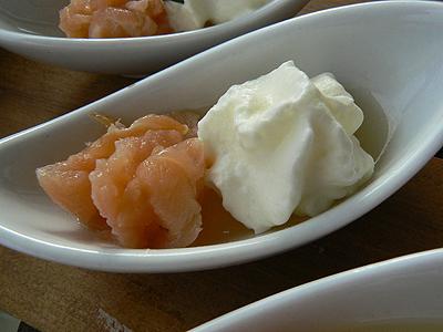 saumon +crème