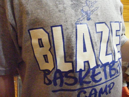 Little Guy's B-ball camp shirt