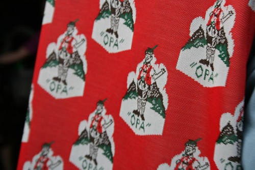 Opa Vest Fabric - Red