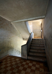 Staircase at Tuol Sleng (Tuomas A. Lehtinen Photography) Tags: travel history museum digital canon rouge eos rebel asia cambodia khmer angle empty south wide sigma wideangle places east prison staircase 1020mm genocide breathtaking phnom penh s21 khmerrouge toul sleng tuolsleng tuol kambodza xti vankila 400d earthasia breathtakinggoldaward breathtakinghalloffame mygearandme mygearandmepremium mygearandmebronze mygearandmesilver