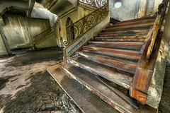 Tyersall House: Singapore Stairway to Heaven.......Once Upon a TIME ....! (Ragstatic) Tags: city travel light people urban holiday color texture abandoned tourism ar