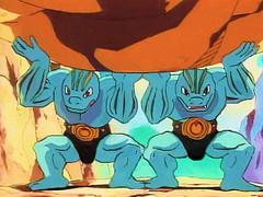 machokes (critter superhero) Tags: muscle cartoon superhero pokemon speedo bulge machoke machop machamp