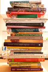 pile of cookbooks
