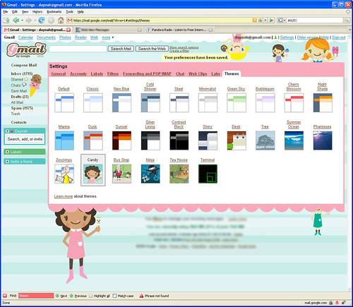 Gmail - Girlie Theme