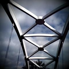 The sky, barricaded (Graustark) Tags: museum digital texas district houston helga camerabag iphone graustarkbridge