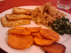 Tofu, Sweet Potatoes, and Wild Rice